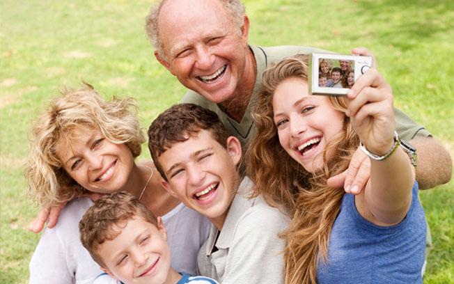familia sorrindo